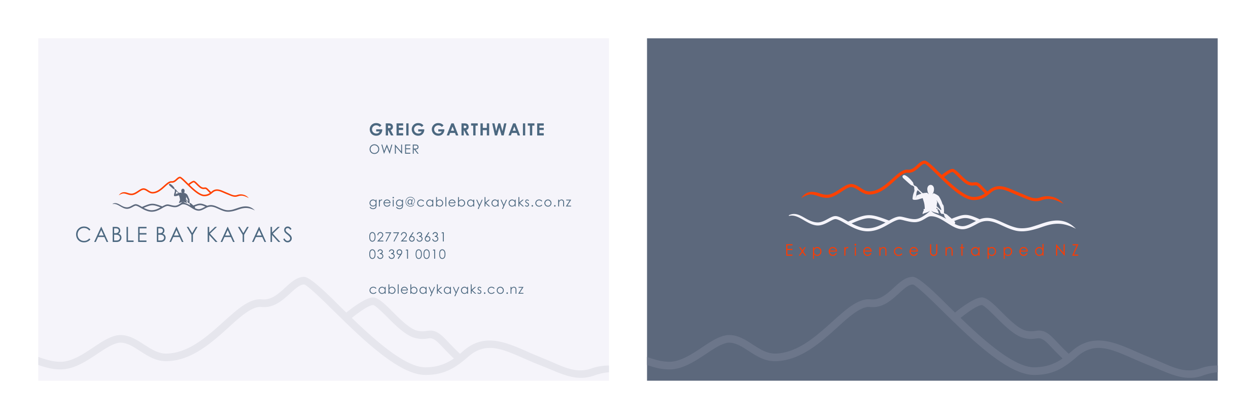 create a logo for awesome New Zealand Kayak company