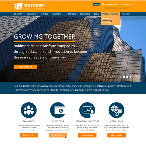 Corporate Modern Site Needed for Business Intelligence Software Company