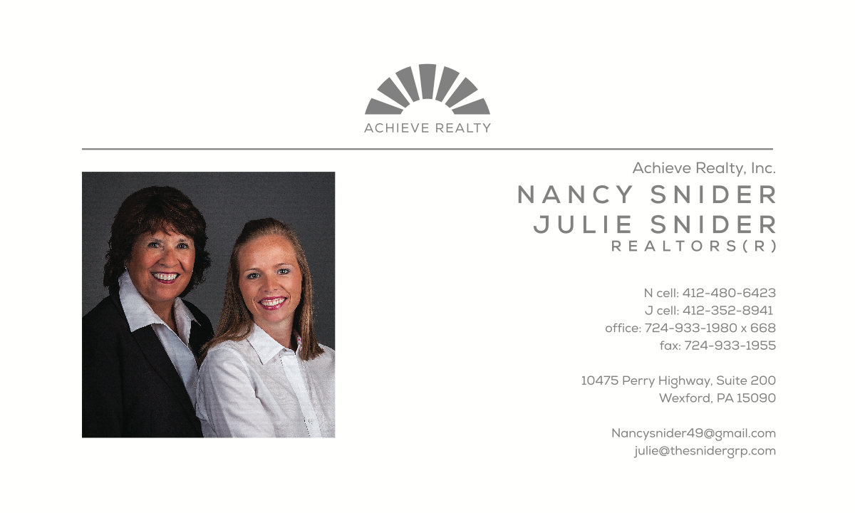 Nancy & Julie business card