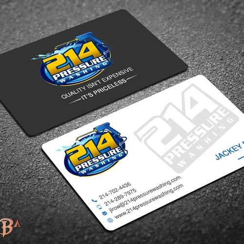 214 Pressure Washing Business Card...