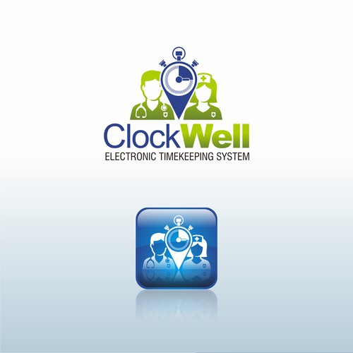 Clockwell logo for hospital timekeeping system