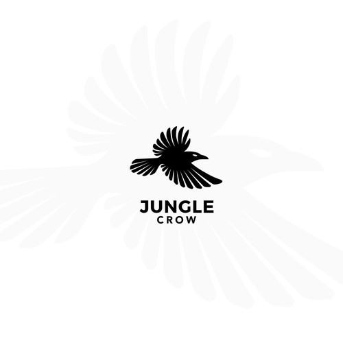 Minimal Logo Design for the brand Jungle Crow