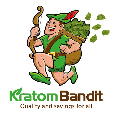 Create an iconic character for Kratom Bandit
