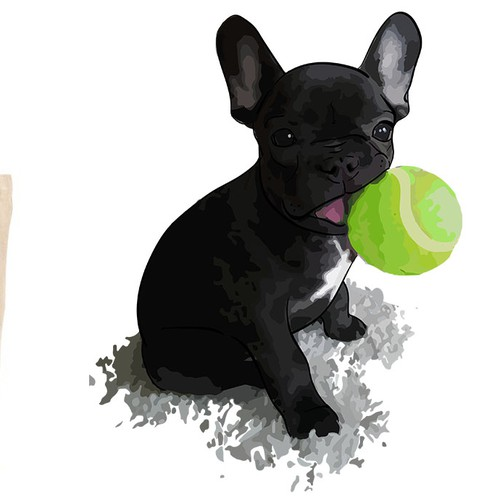 Water Color French Bulldog