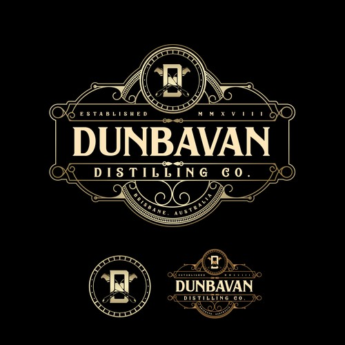 Rum Distillery Logo for Dunbavan Distilling Co.