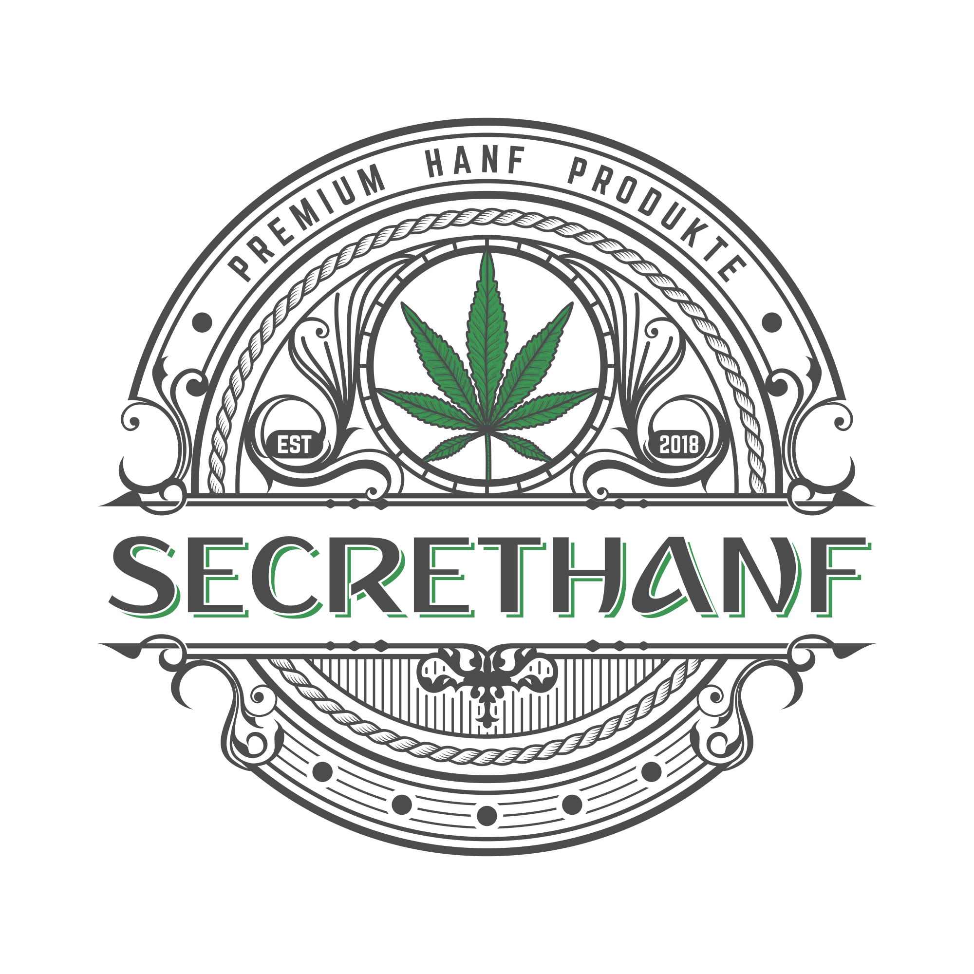 secrethanf , hemp & cbd Onlineshop needs modern logo