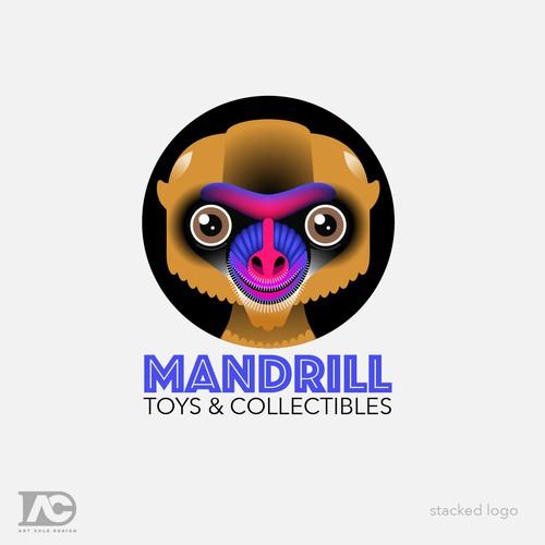 Mandrill Monkey Mascot Design