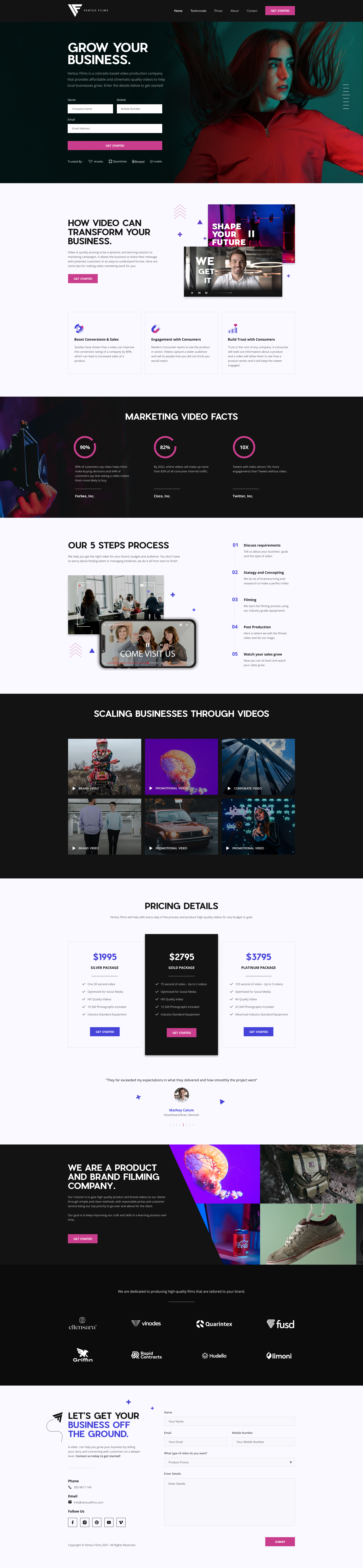 Film Production Company seeks eye catching website!