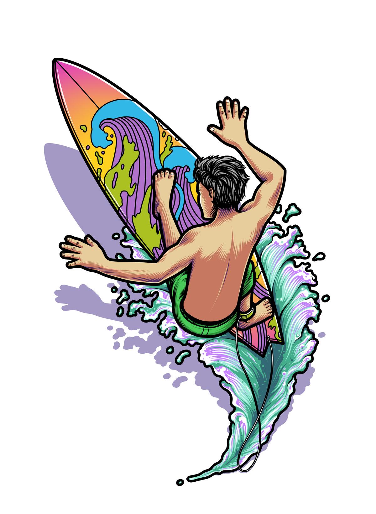 Surf logo for t-shirt