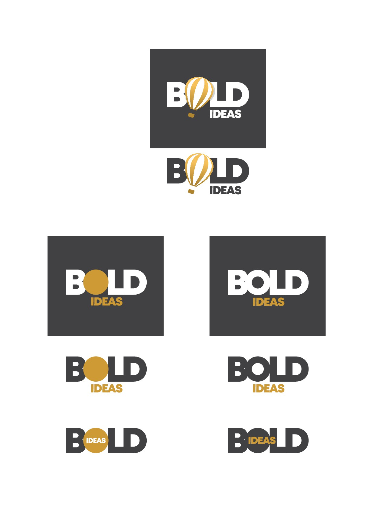 Create a logo for a creative conference named BOLD IDEAS to solve mankind's problems together