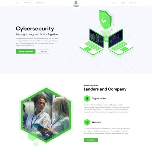 Cyber security Home page