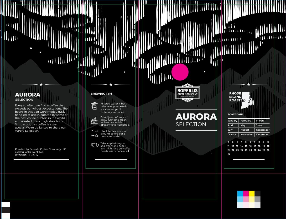 8 oz Aurora Selection Bag Design