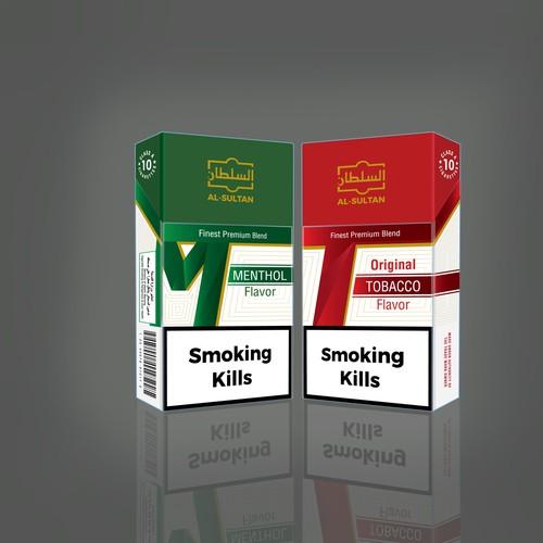 packaging design for cigarette box