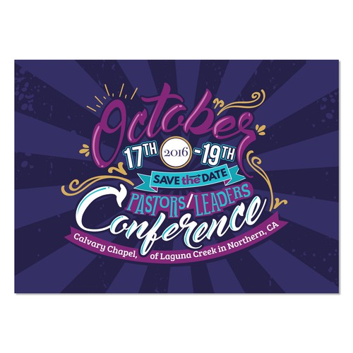 Bold Postcard Design for Leader Conference