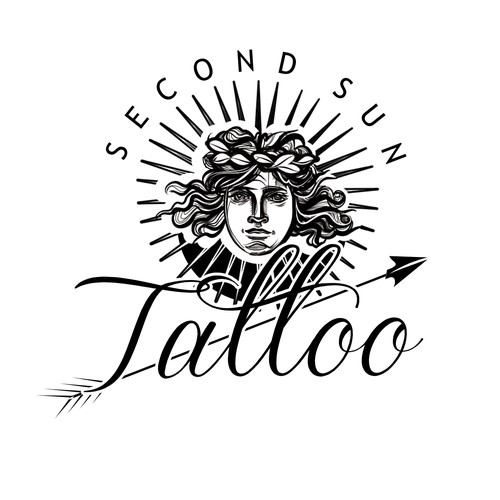 Sun King / Versailles inspired creative solution for Tattoo Shop logo