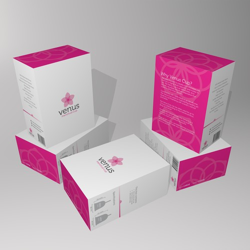 Packaging design for a feminine hygiene product.