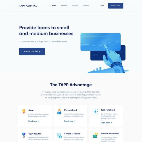 Design a modern catchy website for Fintech