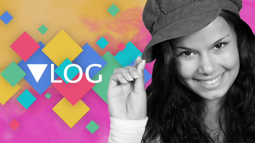 Facebook cover template for vloggers