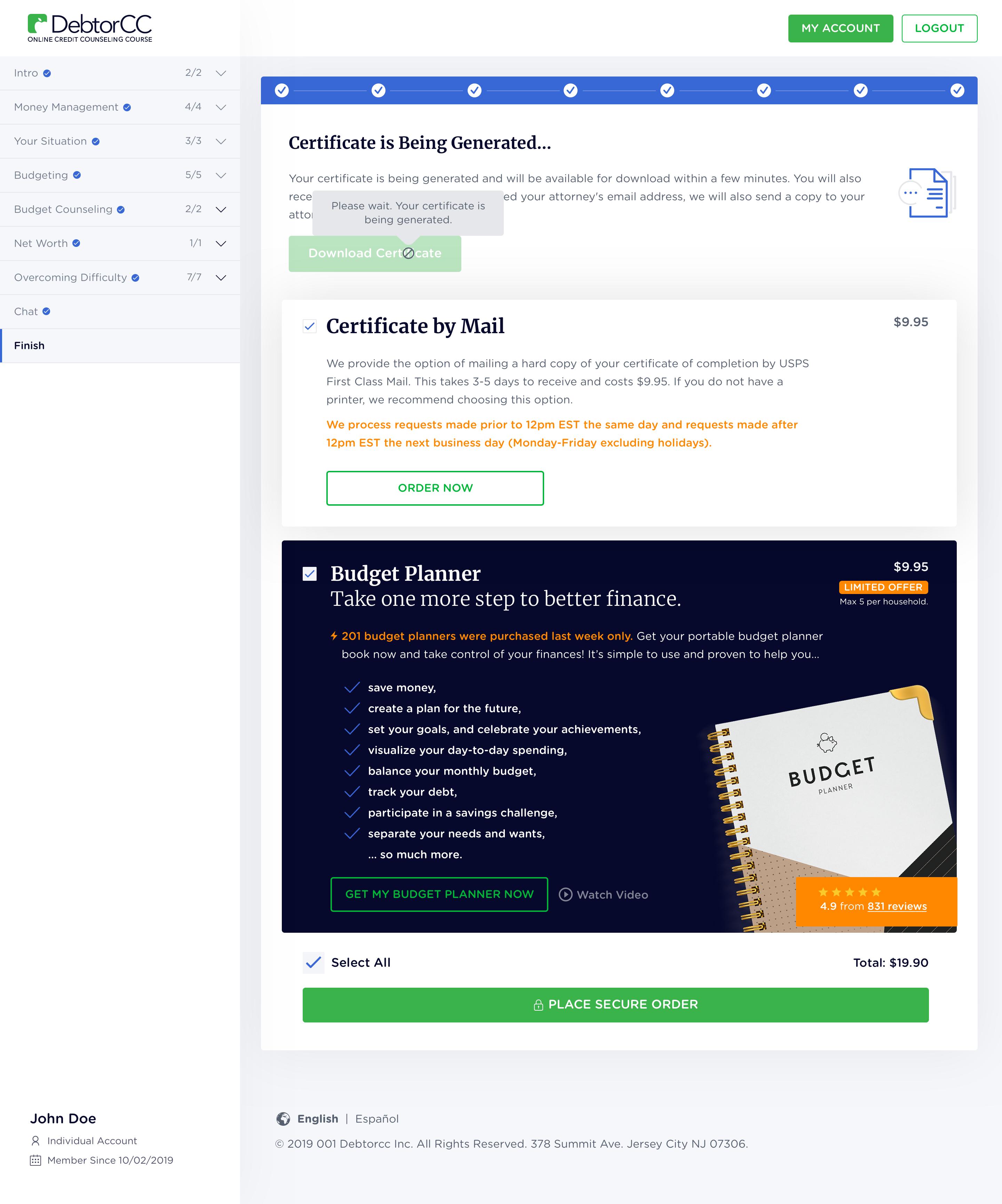 DebtorCC Website Redesign Continuity