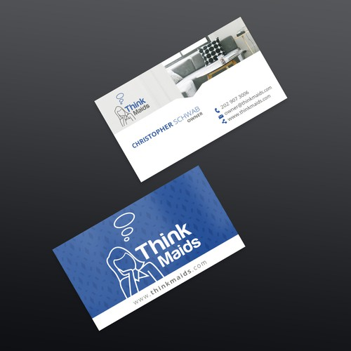 Think Maids Business Card Design