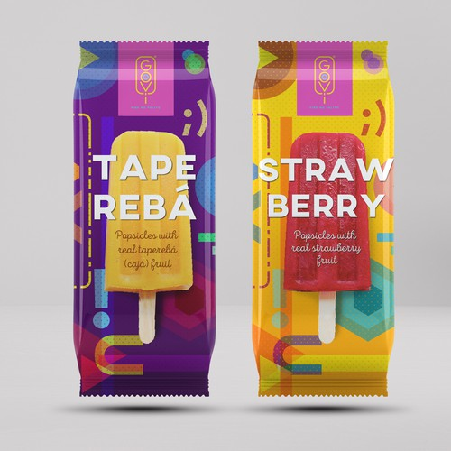 packaging design for goovy popsicles