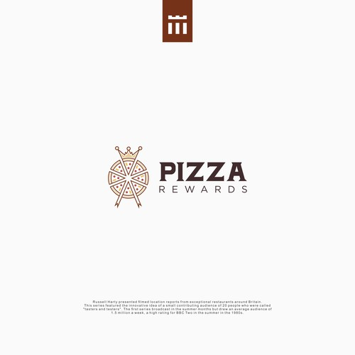 pizza logo with crown combination