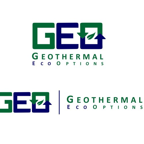 Bold logo for geothermal company