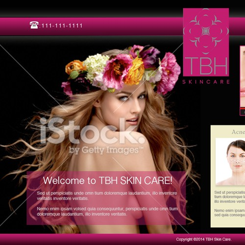 Create a Stunning Home Page for New Skincare Line