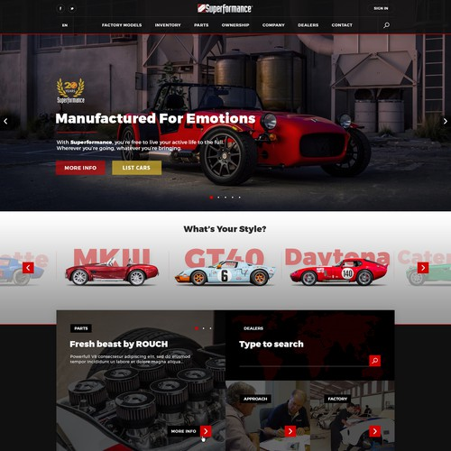 Superformance web site idea proposal