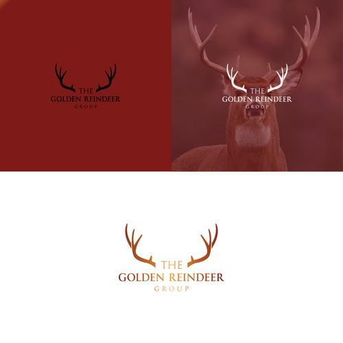 Gold Color Logo For Golden Reindeer