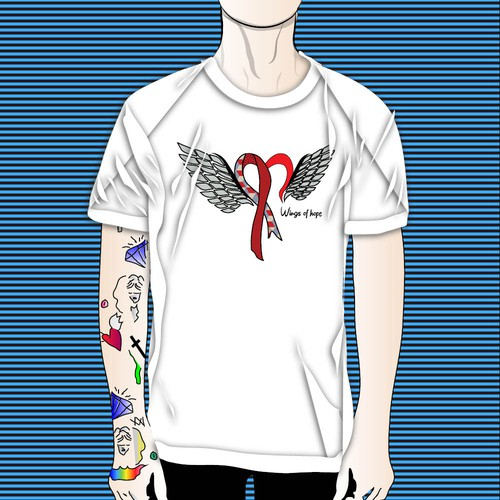 t shirt concept wings of hope