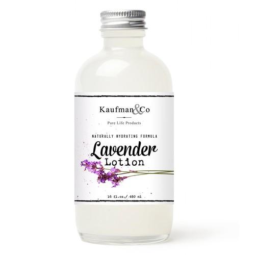 Natural Healthcare Lavender label