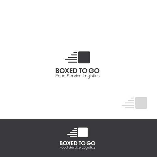 Bold,smart logo for food service logistic company.
