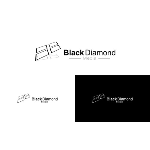 Create a sleek, modern, clean design for Black Diamond Media