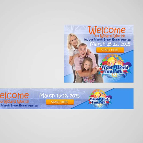 Create a Banner for Wizard World Indoor Fun Park!