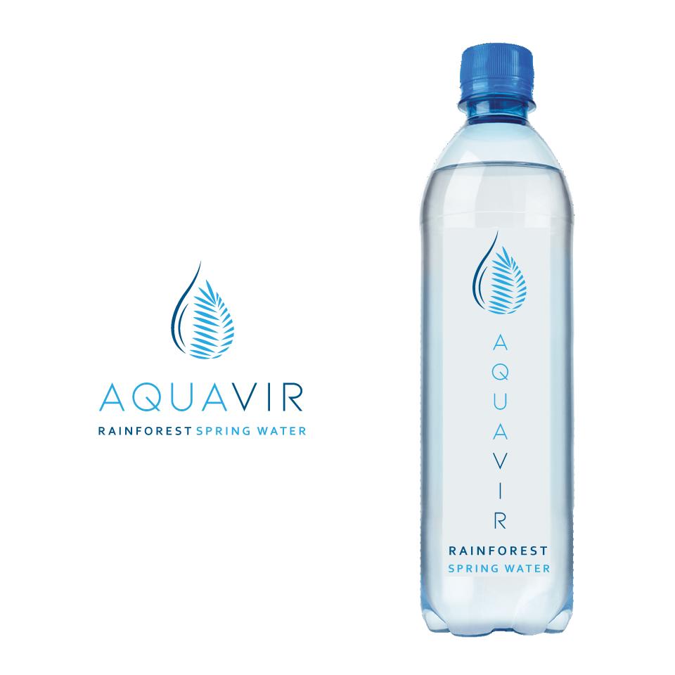 AquaVir bottled water logo