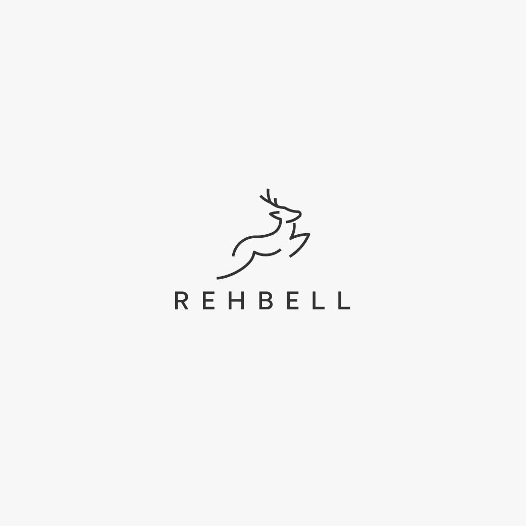 Tier-Illustration (Logo) im modernen und edlen Look für nachhaltige Produkte
