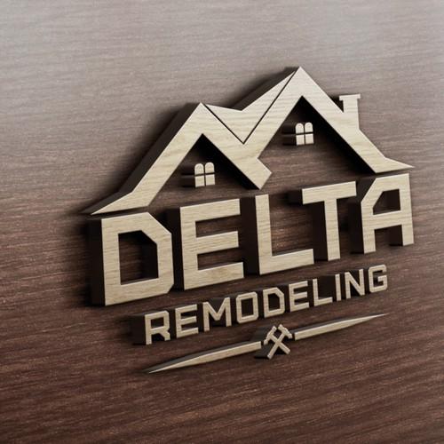Conceito para logotipo empresa de reforma e casas.
