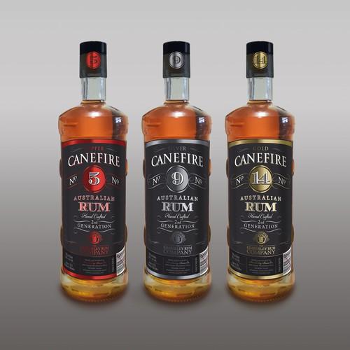Label for a boutique Australian Rum