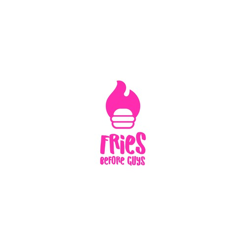 Pinkish logo for a fast food restaurant