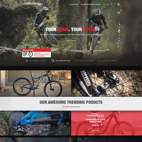 Create the Website for For The Riders - Australias no.1 Mountain Bike Retailer