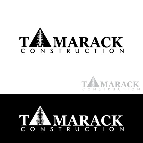 "Bold logo concept for ""TAMARACK CONSTRUCTION"""