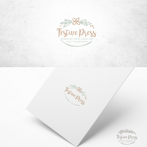logo for handmade paper goods company