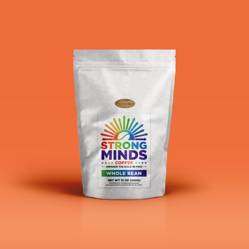 Coffee Bag Label for Strong Minds Coffee