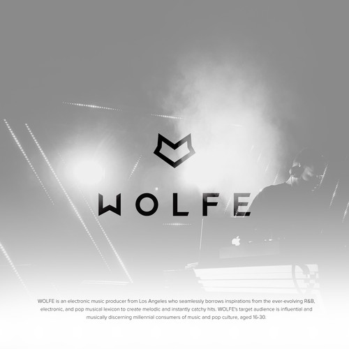 Design a new logo for emerging electronic producer WOLFE