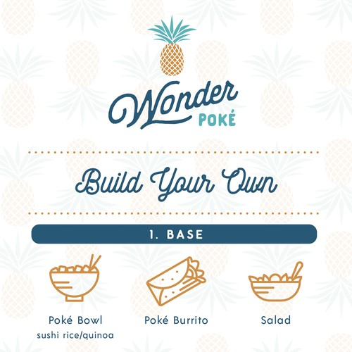 Wonder Poke Menu Design
