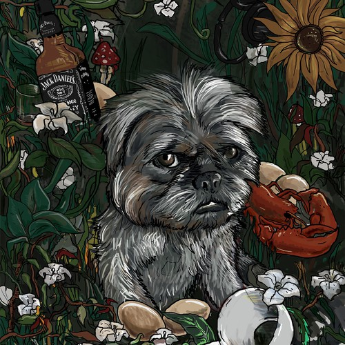 Illustration of the cute little dog :)