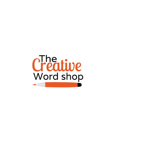 Create a logo for creative writing teaching business that appeals to adults and kids and preferably scalable