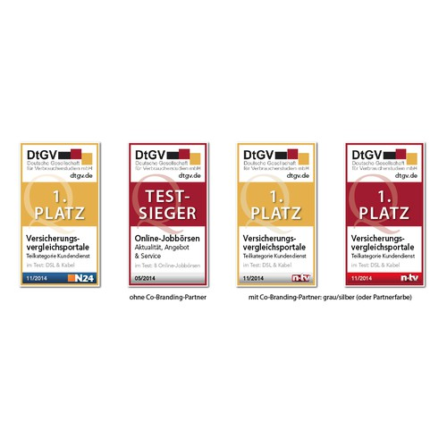 RedesignDtGV-Testsiegel //// Re-design of our DtGV seal of quality