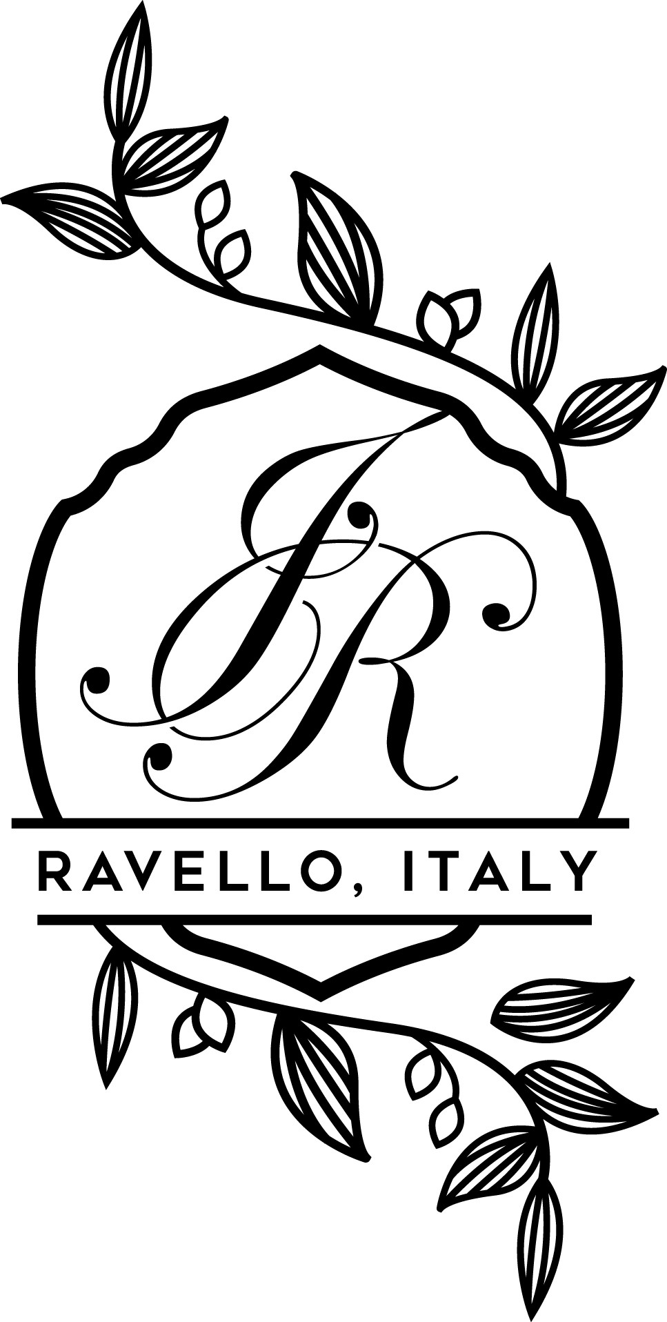 Italy Wedding Logo with Initials